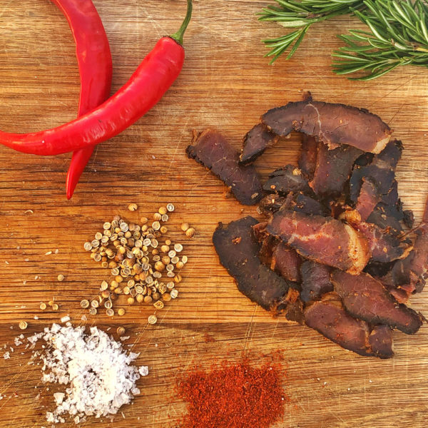 Buy spicy sliced Biltong in Malta
